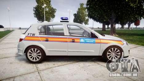 Vauxhall Astra 2010 Police [ELS] Whelen Liberty para GTA 4 esquerda vista