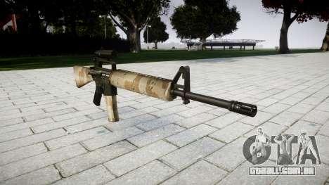 O M16A2 rifle [óptica] nevada para GTA 4