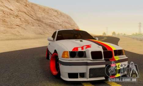 BMW M3 E36 German Style para GTA San Andreas traseira esquerda vista