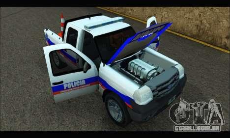Ford Ranger 2011 Patrulleros CPC para GTA San Andreas vista direita