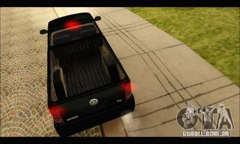 Volkswagen Amarok Cabina Simple para GTA San Andreas vista direita