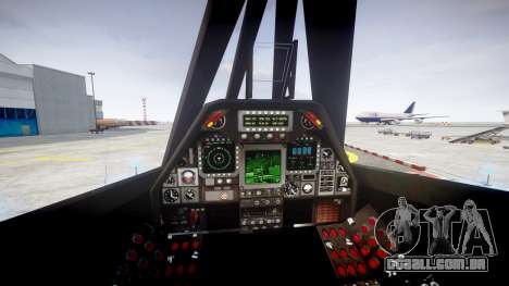 Lockheed F-117 Nighthawk para GTA 4 traseira esquerda vista