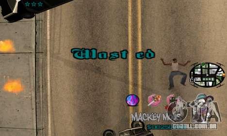 C-HUD Mickey Mouse para GTA San Andreas quinto tela