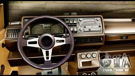 Volkswagen Jetta A2 Coupe para GTA San Andreas traseira esquerda vista