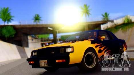 HardCore ENB para GTA San Andreas por diante tela