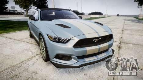 Ford Mustang GT 2015 Custom Kit gray stripes para GTA 4