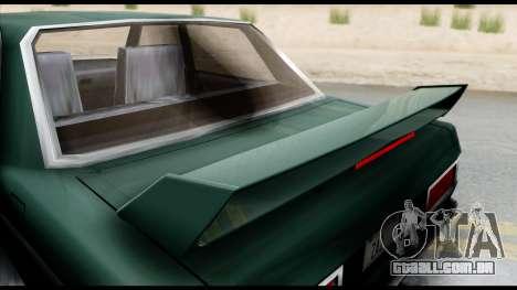 Admiral Camber Edition para GTA San Andreas traseira esquerda vista