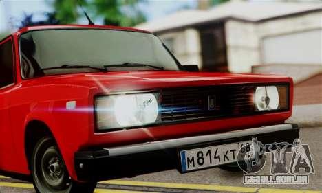VAZ 2105 para GTA San Andreas traseira esquerda vista