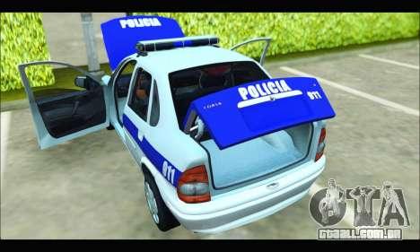Chevrolet Corsa Policia Bonaerense para GTA San Andreas vista direita