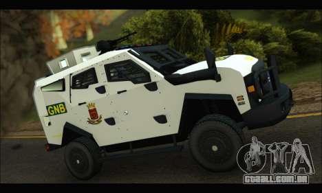 Oshkosh Sand Cat GNB para GTA San Andreas traseira esquerda vista