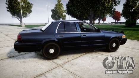 Ford Crown Victoria Police Interceptor [Retired] para GTA 4 esquerda vista