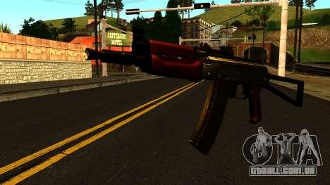 Escuro AKS-74U v1 para GTA San Andreas