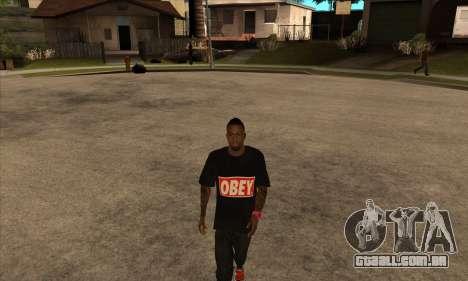 Obey Nigga para GTA San Andreas segunda tela