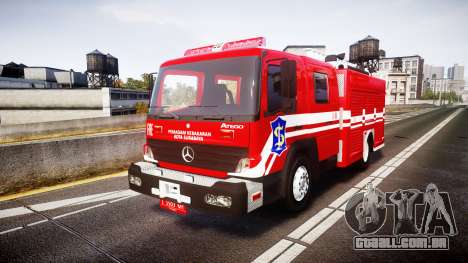 Mercedes-Benz Atego Indonesian Fire Truck [ELS] para GTA 4