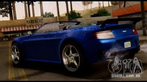 GTA 5 Dewbauchee Rapid GT Cabrio [HQLM] para GTA San Andreas traseira esquerda vista