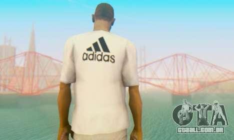 Adidas Shirt White para GTA San Andreas segunda tela