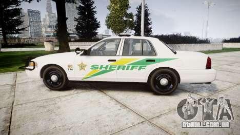 Ford Crown Victoria Martin County Sheriff [ELS] para GTA 4 esquerda vista