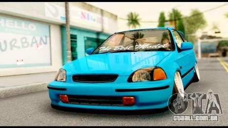 Honda Civic Hatcback O. B. Construção para GTA San Andreas