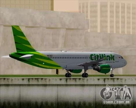 Airbus A320-200 Citilink para GTA San Andreas vista traseira