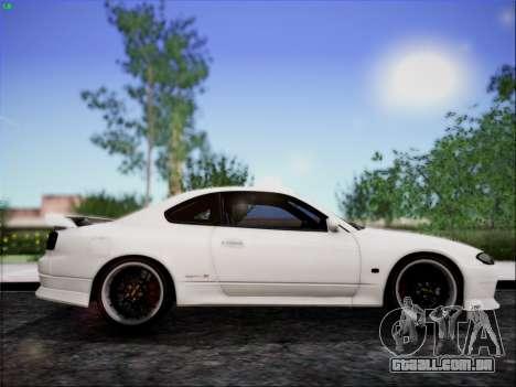 Nissan Silvia S15 Roux para GTA San Andreas traseira esquerda vista
