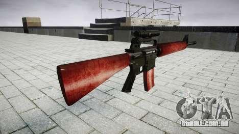 O M16A2 rifle [óptica] vermelho para GTA 4 segundo screenshot