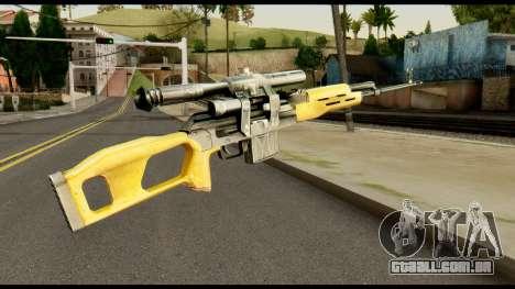 SVD from Max Payne para GTA San Andreas segunda tela