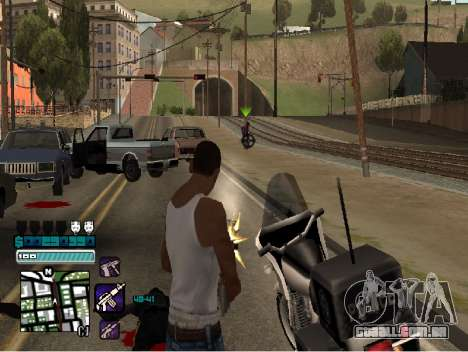 Beautiful C-HUD para GTA San Andreas terceira tela