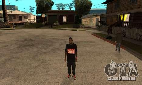Obey Nigga para GTA San Andreas terceira tela
