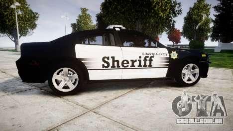 Dodge Charger 2013 County Sheriff [ELS] v3.2 para GTA 4 esquerda vista