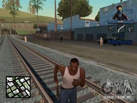 C-HUD Unique Ghetto para GTA San Andreas segunda tela