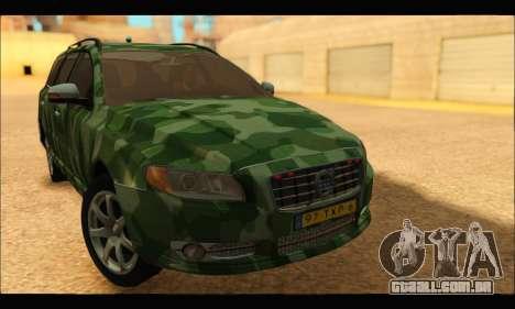 Volvo V70 Camo para GTA San Andreas traseira esquerda vista
