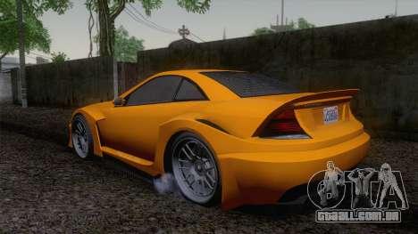 Benefactor Feltzer GTA V para GTA San Andreas esquerda vista