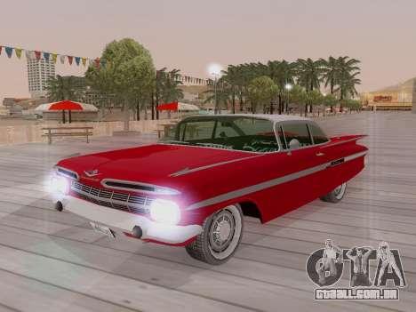 Chevrolet Impala 1959 para GTA San Andreas vista inferior