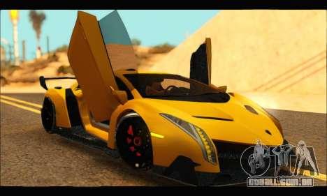Lamborghini Veneno 2013 HQ para GTA San Andreas vista direita