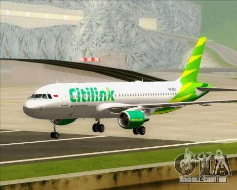 Airbus A320-200 Citilink para GTA San Andreas esquerda vista