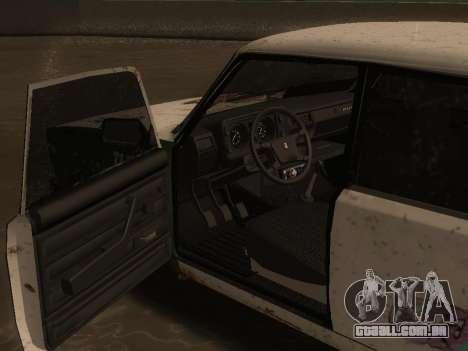 VAZ 2105 Enferrujado calha para GTA San Andreas vista direita