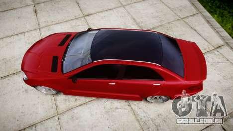 GTA V Benefactor Schafter body wide rims para GTA 4 vista direita