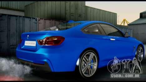 BMW 4-Series Coupe M Sport 2014 para GTA San Andreas esquerda vista