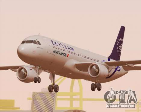 Airbus A320-200 Air France Skyteam Livery para as rodas de GTA San Andreas
