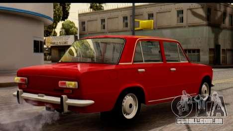 VAZ 2101 Zhiguli para GTA San Andreas traseira esquerda vista