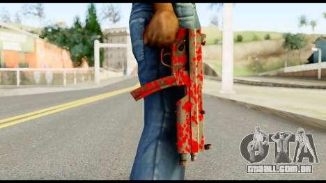 MP5 with Blood para GTA San Andreas terceira tela