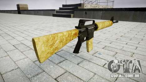 O M16A2 rifle de ouro para GTA 4 segundo screenshot
