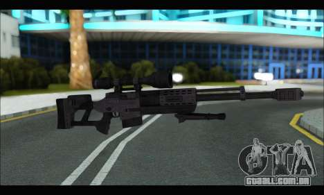 Raab KM50 Sniper Rifle From F.E.A.R. 2 para GTA San Andreas sexta tela