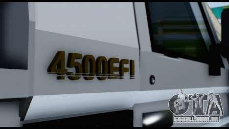 Toyota Land Cruiser Macho Pick-Up 2007 4.500 para GTA San Andreas vista traseira