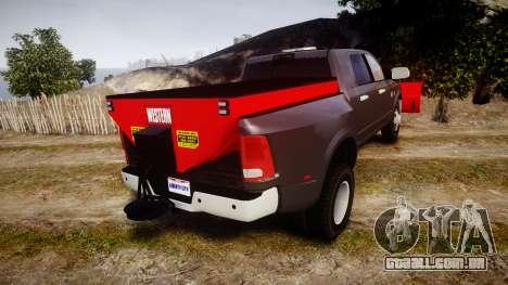 Dodge Ram 3500 Plow Truck [ELS] para GTA 4 traseira esquerda vista