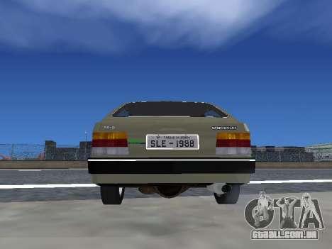 Chevrolet Chevette Hatch para GTA San Andreas vista interior