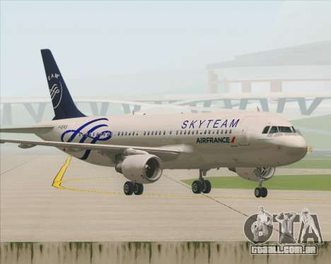 Airbus A320-200 Air France Skyteam Livery para GTA San Andreas vista inferior