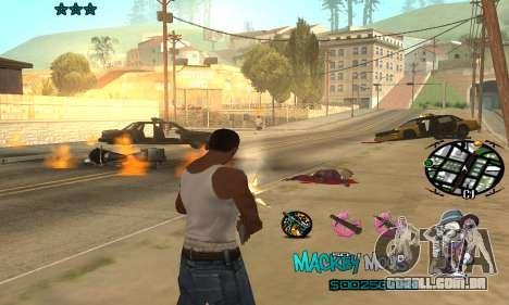 C-HUD Mickey Mouse para GTA San Andreas terceira tela