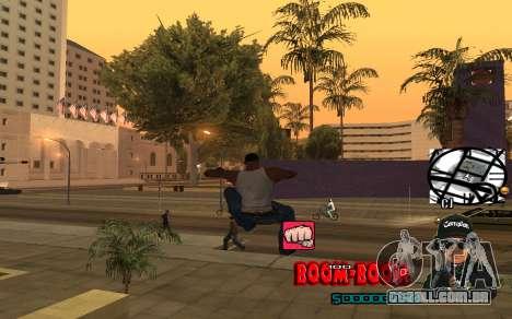 C-HUD Boom-Boom para GTA San Andreas por diante tela