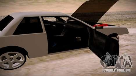 Manana BOOM para GTA San Andreas traseira esquerda vista